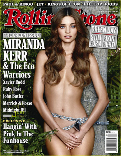 Miranda Kerr se destapa en el número verde de Rolling Stone