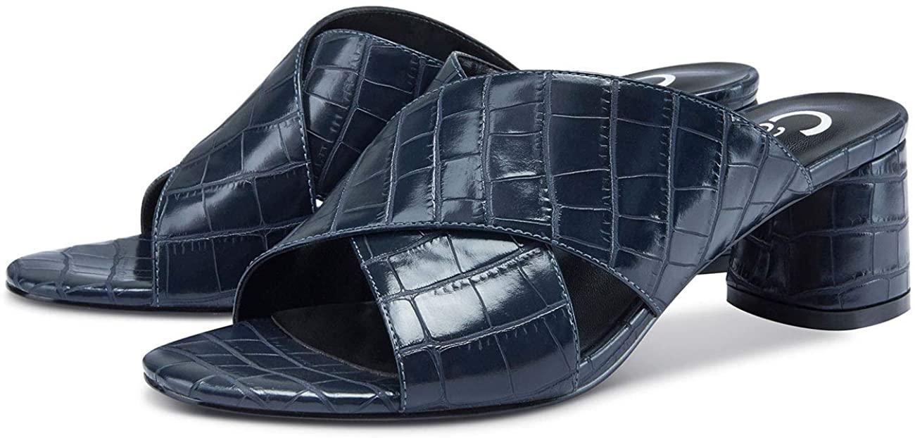 CASTAMERE Zapatos de Tacón Mujer Punta Abierta Sandalias Talón Abierto Ancho Tacón 5CM