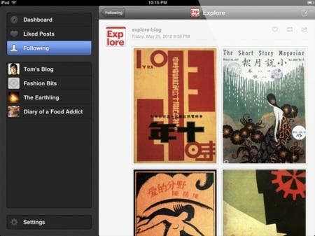 TumbleBee, cliente de Tumblr nativo para el iPad