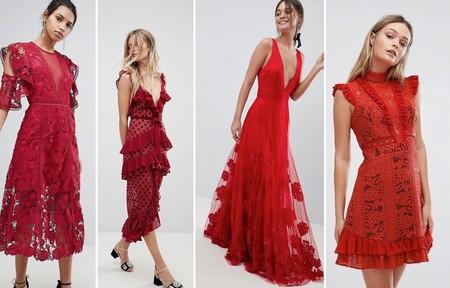 Vestidos Invitada Especial Rojo