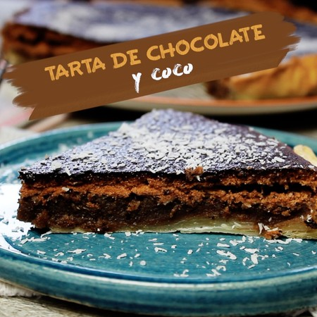 Tarta de chocolate y coco. Receta de pastel en video