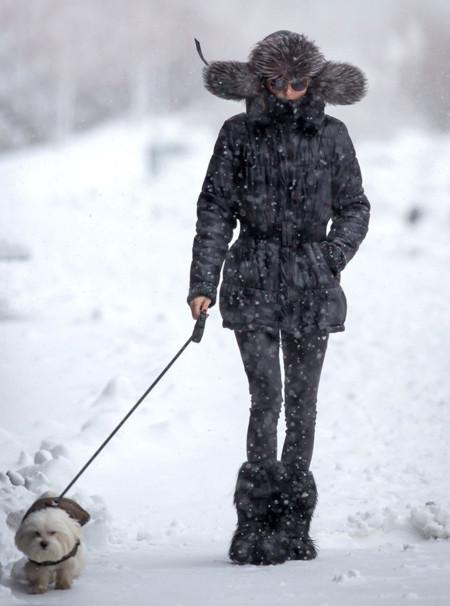 Abrigo Olivia Palermo nieve