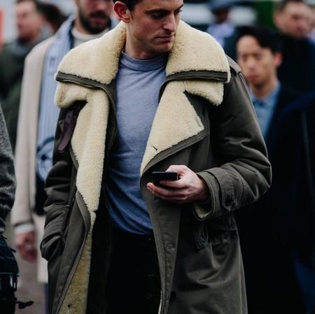 El Mejor Street Style De La Semana Chaqueta Abrigo Borreguillo Shearling Jacket 09