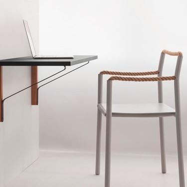 Rope Chair, la sorprendente silla de metal y cuerda es un éxito estético y una idea formidable para la oficina