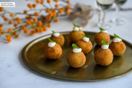 Croquetas de patata y menta, el aperitivo vegetariano más sencillo para abrir boca esta Navidad
