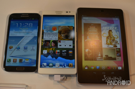Note II, Ascend Mate y Nexus 7
