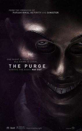 Imagen con el cartel de 'The Purge'