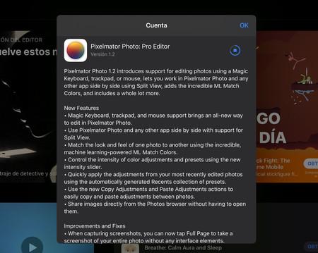 actualización Pixelmator