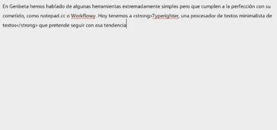 Typerighter, un procesador de textos simple pero capaz en el navegador