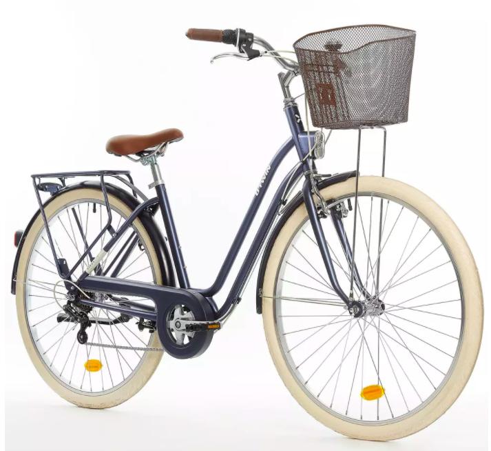 Bicicleta clásica holandesa ELOPS 520 con cuadro bajo