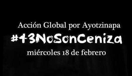 #43NoSonCeniza, las redes sociales mantienen viva la Acción Global por Ayotzinapa