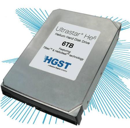 Los discos duros de 3,5 pulgadas llegan a los 6TB gracias al Helio, Ultrastar HE6