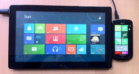Tablet Windows 8, móvil Windows Phone 7