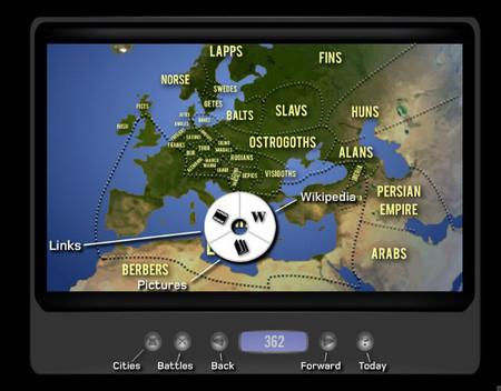Un viaje en el tiempo por Europa con mapas interactivos