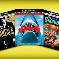 Los Blu-ray 4K de 'Scarface', 'Jaws' y 'The Goonies' se pueden comprar por menos de 270 pesos en Amazon México
