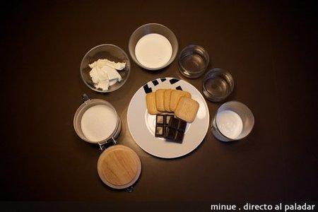 mini tarta de queso mascarpone y chocolate - ingredientes