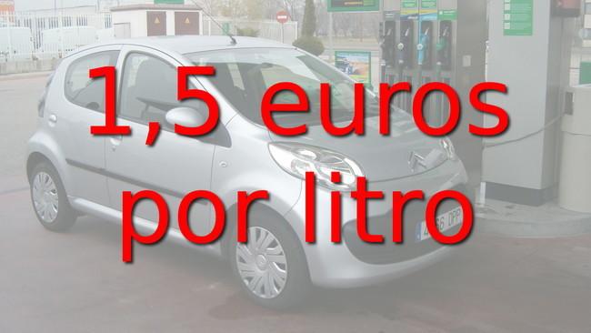 1,5 euros por litro