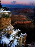 Hermosas fotografías del Gran Cañón a media luz
