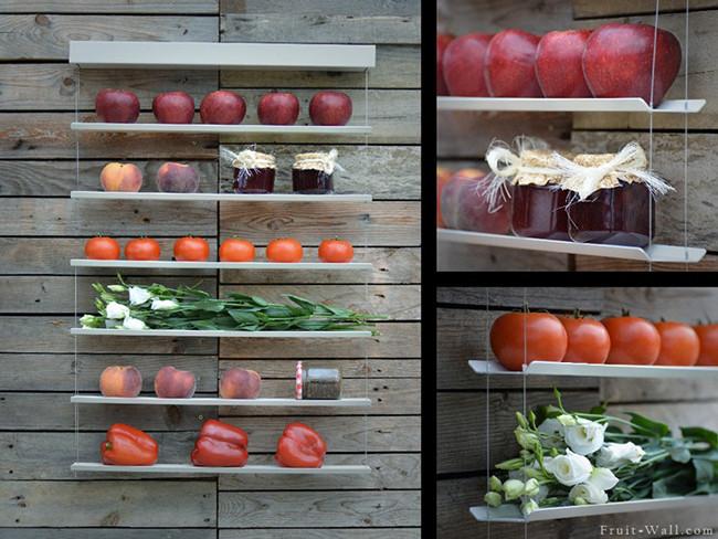 Frutero de pared la nueva manera de guardar tus frutas en - Fruteros de cocina ...