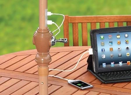 Una sombrilla que recarga nuestros gadgets con energ a for Como hacer una sombrilla para jardin