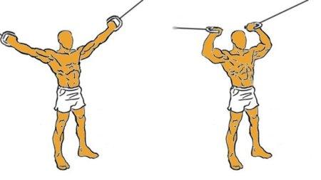 Guía para principiantes (XXXVIII): Bíceps, brazos en cruz, en polea alta
