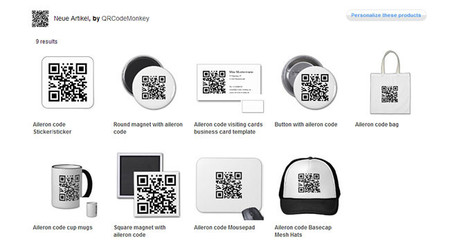 QrCode Monkey, soportes físicos