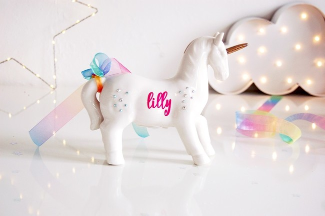 Unicorn Moneybox Personalised