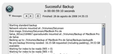 Time Machine Buddy, widget para los logs de TM