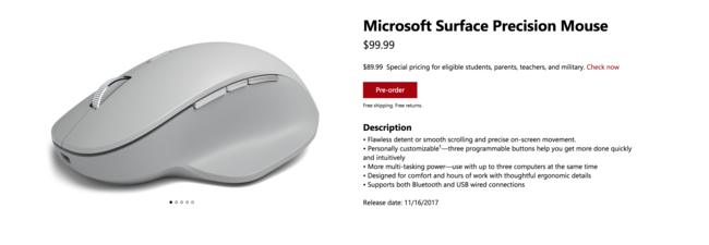 Surface Precision Mouse Reserva