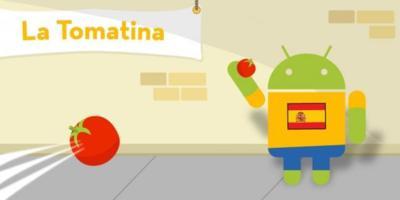 La imagen de la semana: Android y la tomatina de Buñol