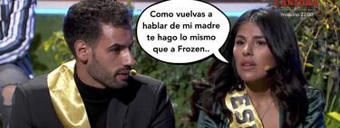 Isa Pantoja regaña en directo a Asraf Beno por haber malmetido contra su madre en 'La Casa Fuerte 2'