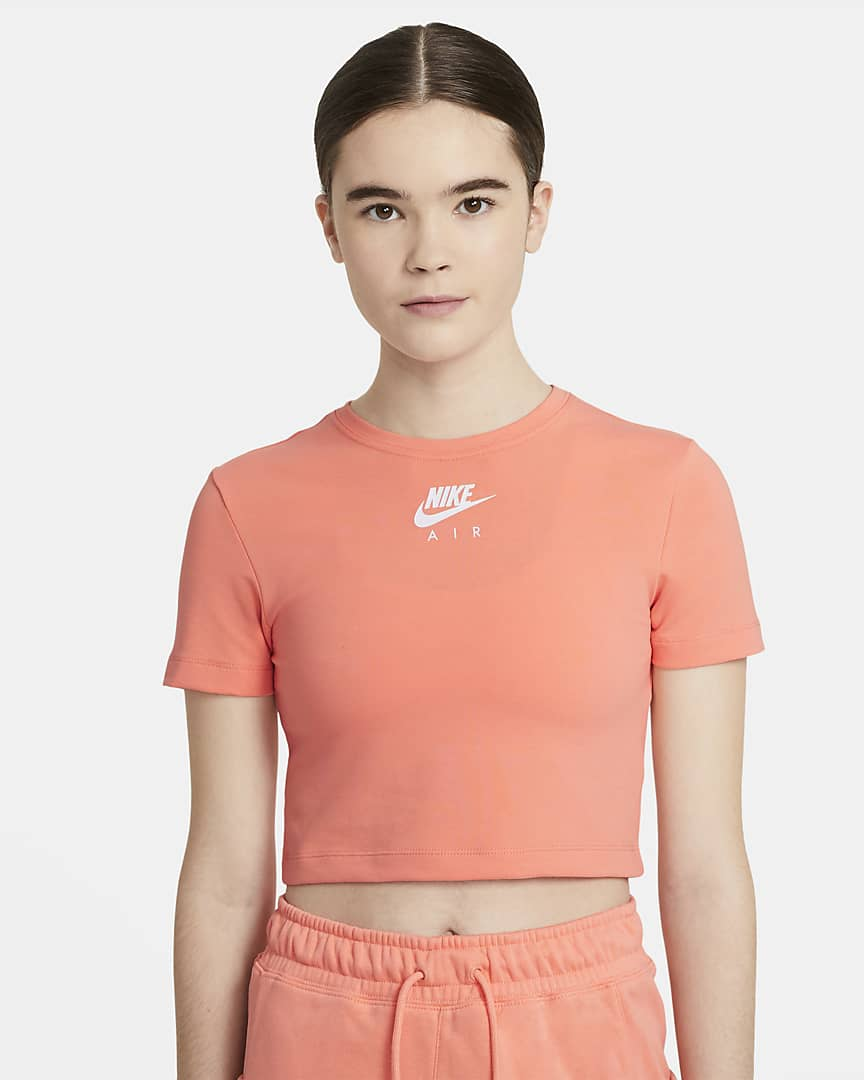 Camiseta Nike Air crop top de manga corta