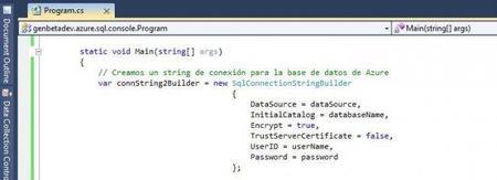 SQL Azure - Connection String Builder