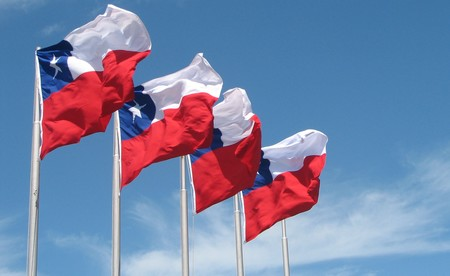 Chile Flags In Puerto Montt