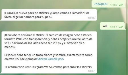 Telegram Stickers Nombre