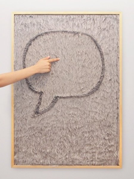 Dedo Message Board, pizarra con pelos