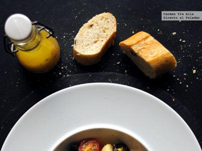 Ensalada de judías y patatas a la francesa. Receta