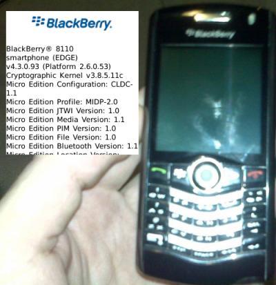 Blackberry 8110 Pearl con GPS pero sin WiFi
