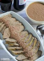 Receta de ternera asada con cebolla, especias de Jaipur y vino tinto