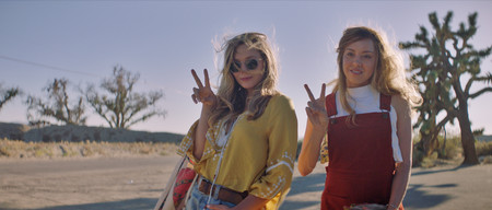 Ingrid Aubrey Plaza And Taylor Elizabeth Olsen Pose For A Photo In Ingrid Goes West Courtesy Of Neon
