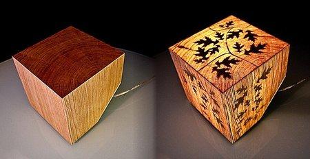 Lámpara CUB, luz que nace de la madera