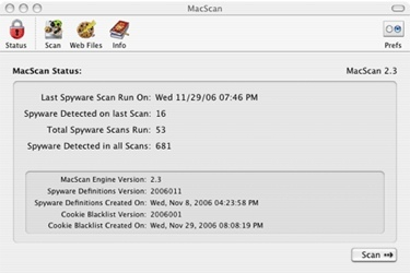 Mac Scan, antispyware para Mac OS X