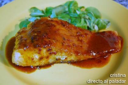 Salmon al aroma de jengibre y curry