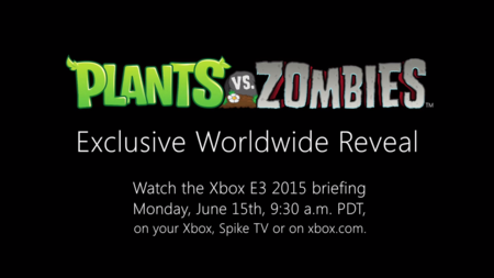 La próxima entrega de Plants vs. Zombies se presentará en E3 2015, ve aquí el primer adelanto