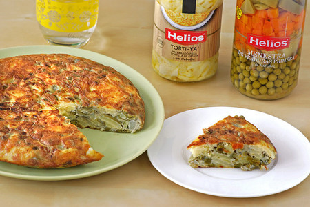 Receta de tortilla paisana de menestra con Torti-ya!