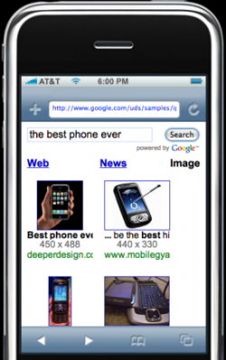 Google AJAX Search para iPhone