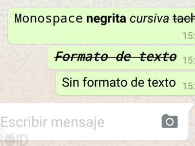 Cómo dar formato de texto en WhatsApp: cambiar tipo de letra, negrita, cursiva y tachado