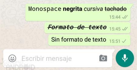Cómo dar formato de texto en WhatsApp: negrita, cursiva, tachado y cambiar tipo de letra