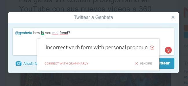 Corrige tu ortografía y gramática en inglés