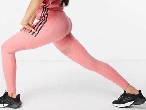 Leggings rosas con diseño de 3 rayas Training de adidas